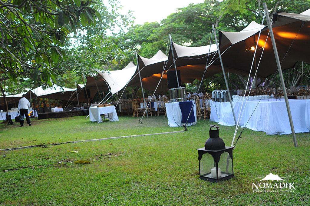 Stretch Tent Tables Venue