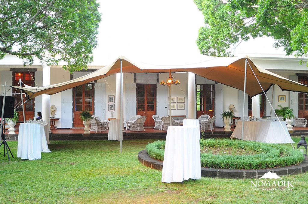 Stretch Tent over veranda